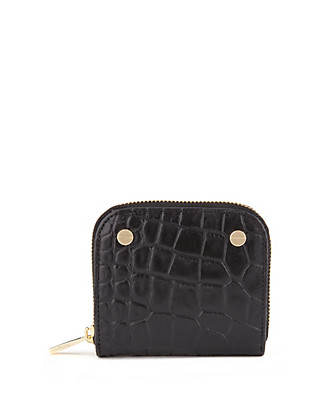 Leather Faux Crocodile Skin Zip Around Purse with Cardsafe™ Clothing