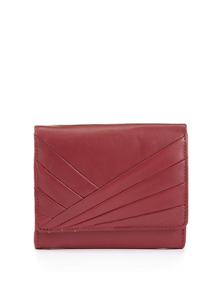 Leather Pleated Medium Purse with Cardsafe™