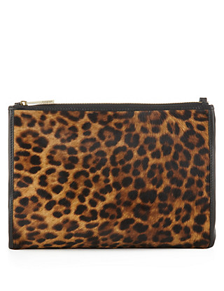 Leather Animal Print Clutch Bag Clothing