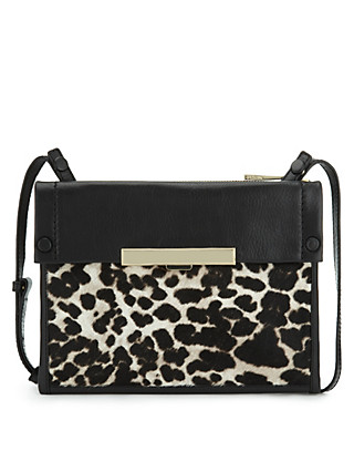 Leather Animal Print Across Body Bag Clothing