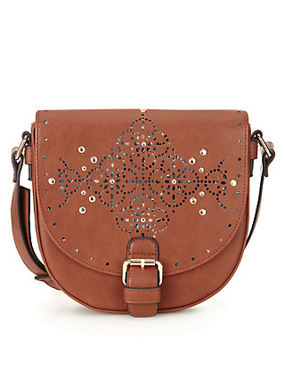 Twiggy for M&S Collection Studded Saddle Bag Clothing