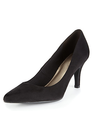 Faux Suede Pointed Toe Stiletto Heel Court Shoes with Insolia® Clothing