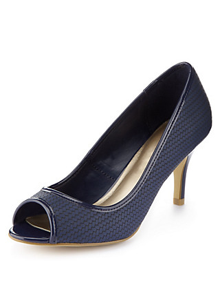 Weave Peep Toe Shoes with Insolia® Clothing