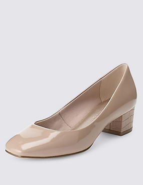 Square Toe Court Shoes with Insolia®