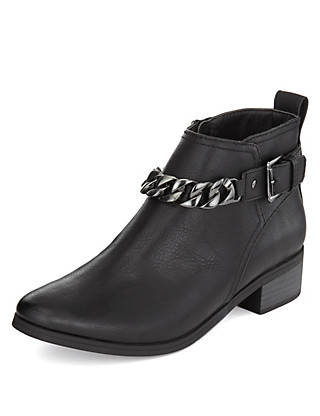 Chain Trim Ankle Boots with Insolia Flex® Clothing