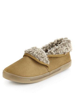 Faux Fur Bootie Slippers Clothing