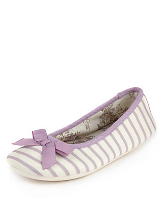 Striped Ballerina Slippers Clothing