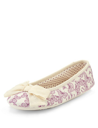 Butterfly Print Ballerina Slippers Clothing