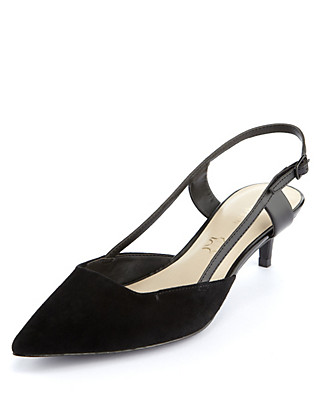 Suede Slingback Shoes with Insolia® Clothing