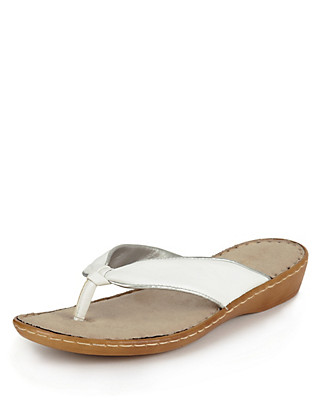 Leather Toe Post Knot Sandals Clothing
