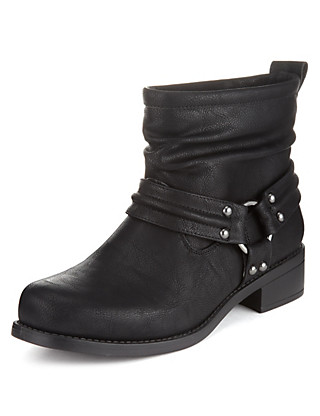 Harness Biker Boots with Insolia Flex® Clothing