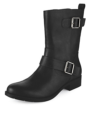 Twin Strap Biker Boots with Insolia Flex® Clothing