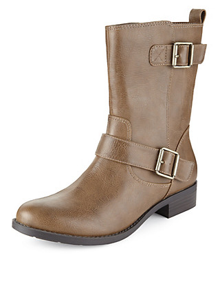 Double Strap Biker Boots with Insolia Flex® Clothing
