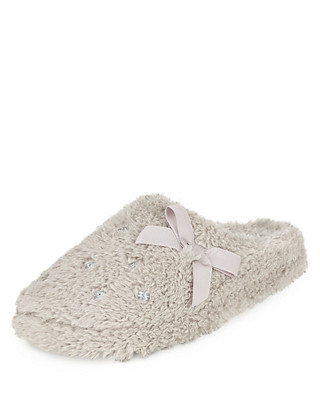Diamanté Mule Slippers Clothing
