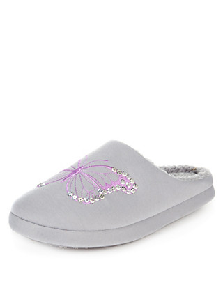 Butterfly Mule Slippers Clothing
