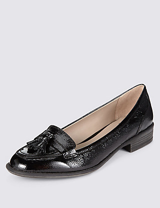 Leather Wide Fit Tassel Loafers Clothing