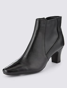 Leather Panelled Ankle Boots with Insolia®
