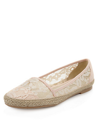 Floral Lace Espadrilles Pumps with Insolia Flex® Clothing