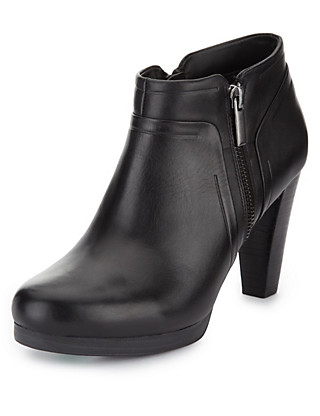 Leather Platform Ankle Boots Clothing