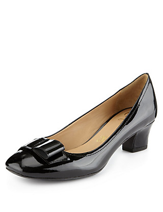 Leather Square Toe Court Shoes Clothing