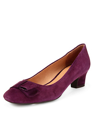 Suede Square Toe Court Shoes Clothing