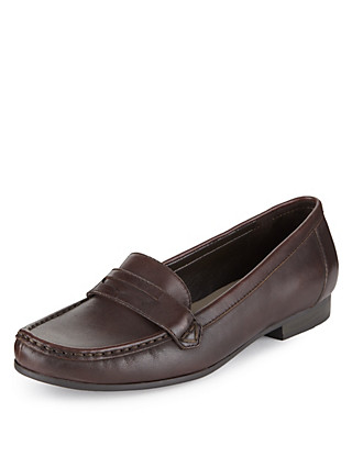 Leather Penny Loafers Clothing