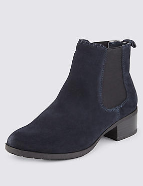 Stain Away™ Suede Wide Fit Chelsea Ankle Boots