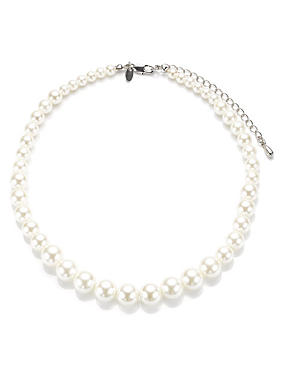 Pearl Effect Graduated Collar Necklace