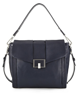 Leather Panelled Shoulder Bag Clothing