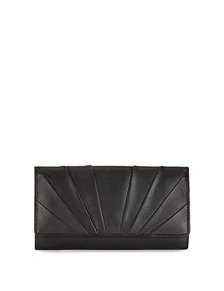 Leather Pleated Large Cardsafe™ Purse Clothing