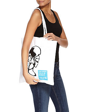 Upcycled Cotton Tote Bag, , catlanding