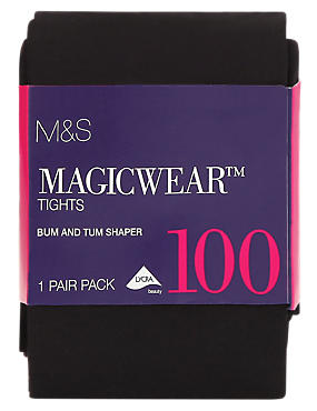 100 Denier Magicwear™ Bum & Tum Opaque Body Shaper Tights