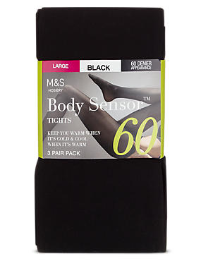 60 Denier Body Sensor™ Opaque Tights 3 Pair Pack
