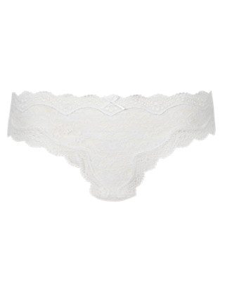 All Over Lace Thong Clothing