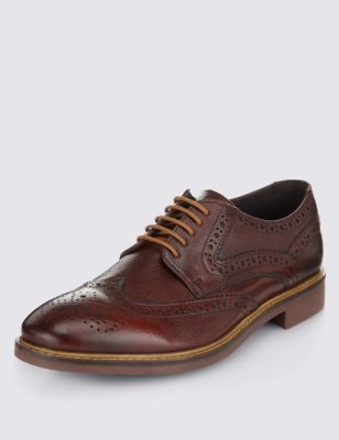 Red Leather Lace Up Brogue Shoes Outfit
