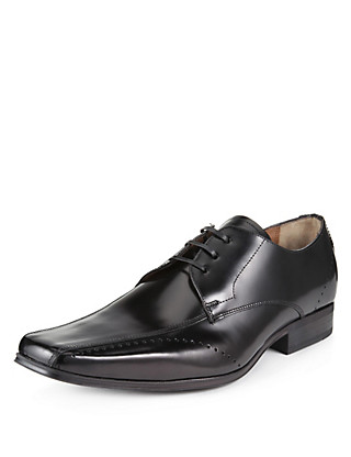 Leather Punched Tramline Shoes Clothing