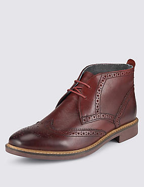 Leather Chukka Brogues