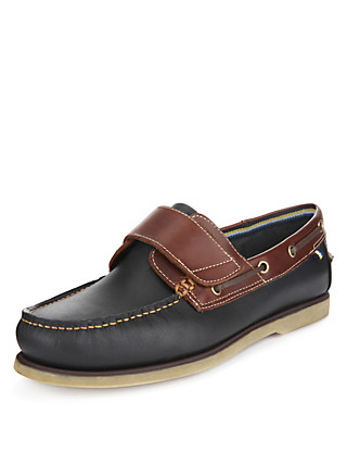 Leather Riptape Boat Shoes Clothing