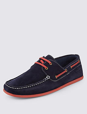 Suede Lace Up Boat Shoes