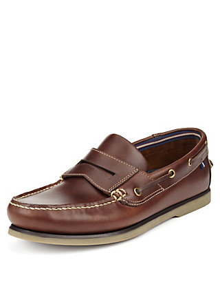 Leather Slip-On Boat Shoes Clothing