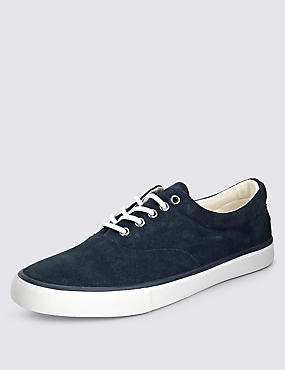 Suede Lace-up Oxford Pump Shoes