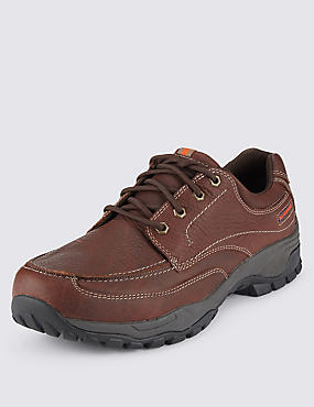 Leather Lace-up Waterproof Shoes