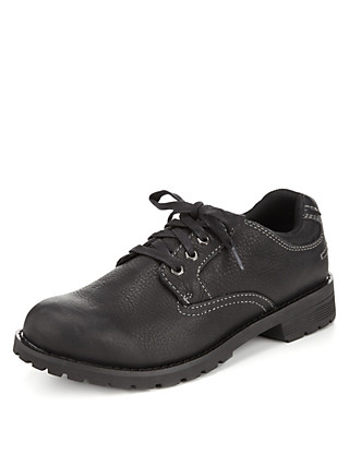 Leather Lace Up Gibson Shoes with Stormwear™ Clothing