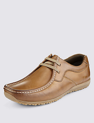 Leather Lace Up Shoes Clothing