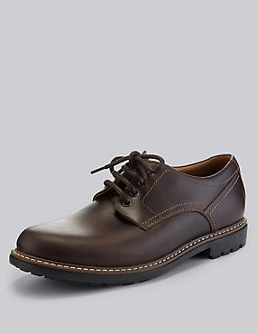 Leather Gibson Lace Up Shoes