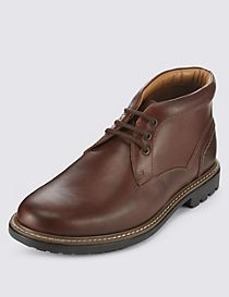 Leather Lace-up Gibson Chukka Boots