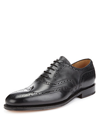Leather Lace Up Brogue Shoes Clothing
