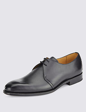 Leather Lace-up Welted Derby Shoes