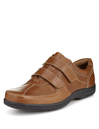 Airflex™ Leather Riptape Slip-On Trainers Clothing
