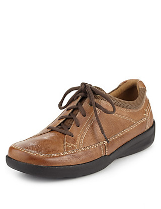 Airflex™ Leather Extra Wide Fit Lace Up Shoes Clothing